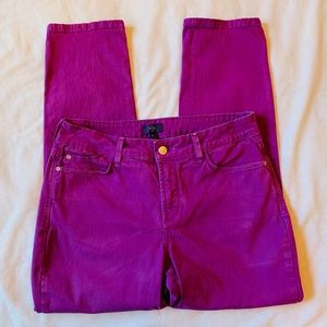 NYDJ Purple Ankle Jeans Comfortable Stretch Fit